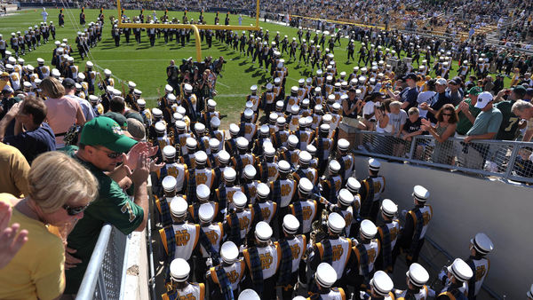 The Band of the Fighting Irish Takes the Field