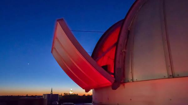 Telescope installed in Jordan Hall of Science